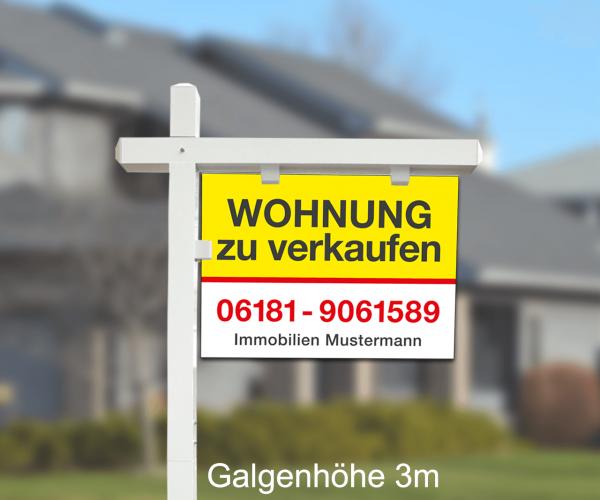 Maklergalgen SET 5 - Hartschaumschild inkl. Druck Standardlayout mit Wunschtext