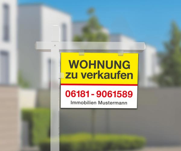 Galgenschild Aluverbund - 70cm x 50cm - inkl. Druck Standardlayout mit Wunschtext