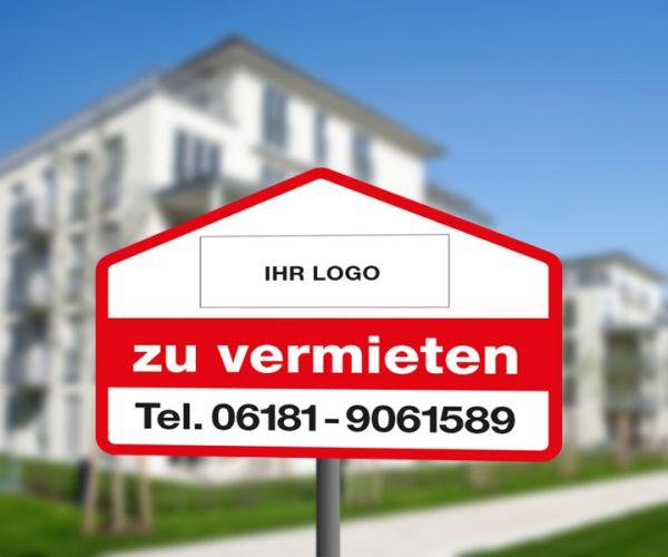 Konturschnitt-Schild HAUS - 90cm x 52cm - Hohlkammerplatte - inkl. Druck