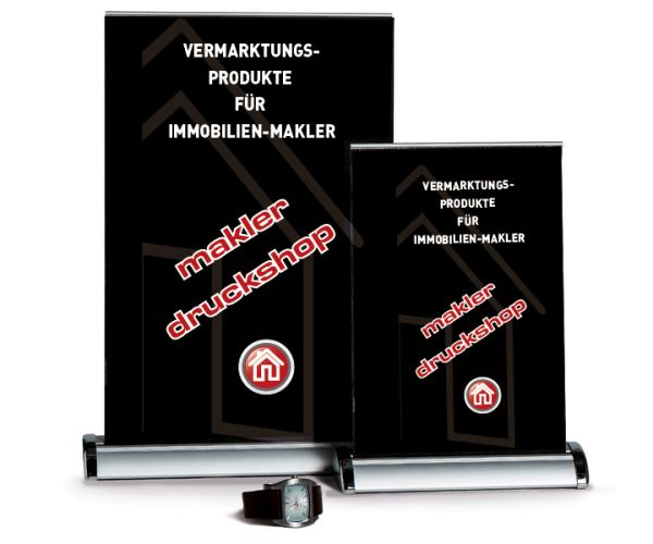 Rollup-Banner Mini A3 - inkl. Druck