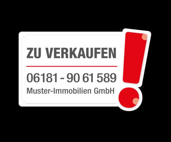 Saugnapfschild MARKER - 80cm x 50cm - Hartschaumplatte 3mm
