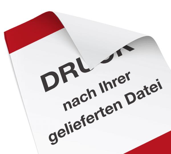 Folienaufkleber - DIN A2 - inkl. Druck - nach Ihrer Datei